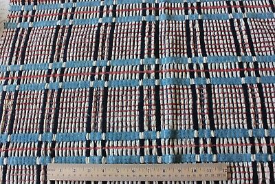 """Antique American Loomed Summer Winter Coverlet Fabric c1840-1860~1yd22""""LX36""""W"""