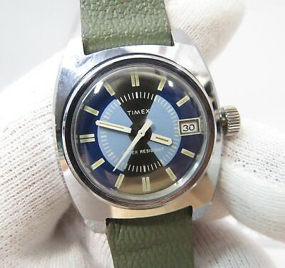 """TIMEX,Manual Wind,Mid-sized ,""""Unique Rare Dial"""" Same Era Band  MEN'S WATCH,1813"""