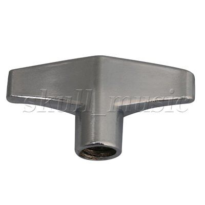 3.9x2cm Silver Metal Flat-headed Wing Nut for Drum Set Replacement Part