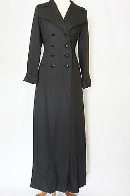 Candi Wrap Vintage Trench Coat Cape Size S/m Long Black Opera Goth