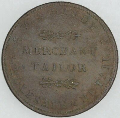 1834 Providence Rhode Island Hard Times Merchant Tailor Token Circ/Corroded