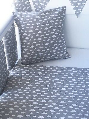 "12"" Handmade Cushion Cover Small Grey Clouds ☁️"
