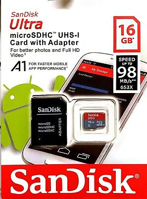 Sandisk 16GB Micro SD SDHC Memory Card for Mobile Phones and Tablets, Cameras