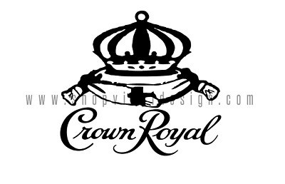 Crown Royal Vinyl Graphic Decal for YETI Laptop Car Truck Window Cooler_751_001