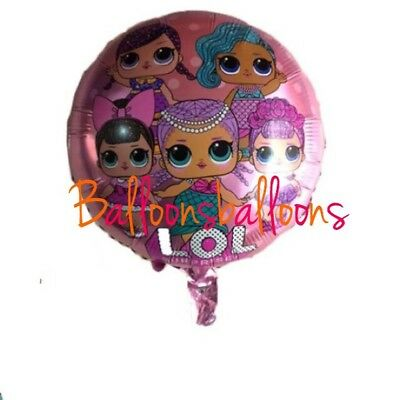 "18"" LOL Surprise Doll Foil Emoji Balloons Party Birthday Decorations Hellium Toy"