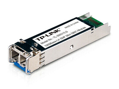 TP-Link Gigabit SFP MiniGBIC Fiber Extender Module Single-Mode LC Interface 10km