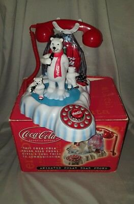 Vintage Coca-Cola Antimated Polar Bear Phone