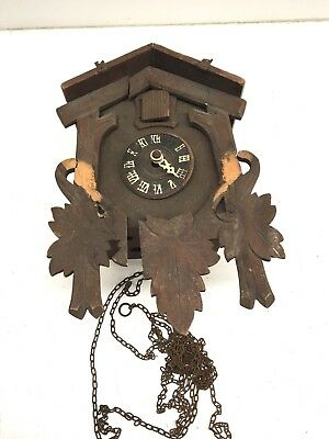 Vintage Cuckoo Clock Made In Germany Parts Repair