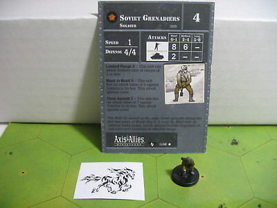 Contested Skies RED ARMY FORWARD OBSERVER #10 Axis/&Allies miniature