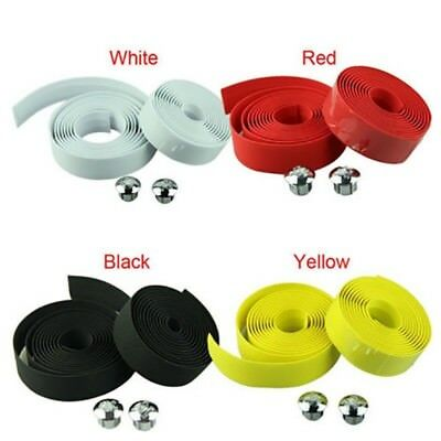Cycling Road Bike Sports Bicycle Cork Handlebar Wrap Tape With 2 Bar Plugs CHEAP