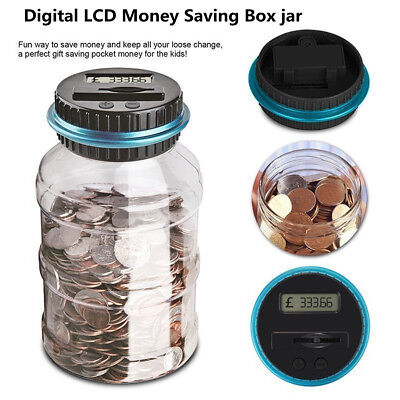 LCD Electronic Digital Counting Coin Bank Money Saving Box Pro Jar Counter Bank