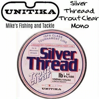 Unitika Silver Thread Trout Clear Mono Fishing Line 150m monofilament leader