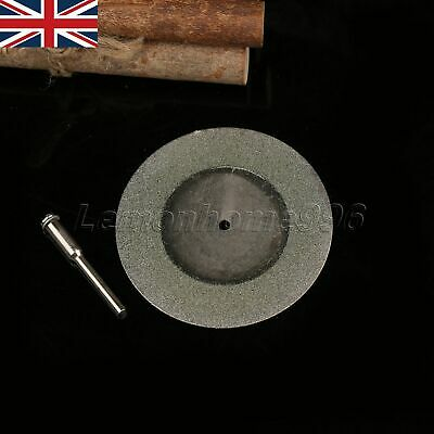 60mm Diamond Coated Cut Off Wheel Discs with Mandrel Shank Rotary Tool Durable