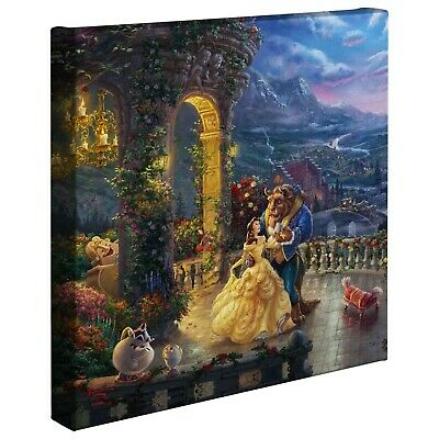 Thomas Kinkade Studios Beauty and the Beast Dancing in the Moonlight 14x14 Wrap