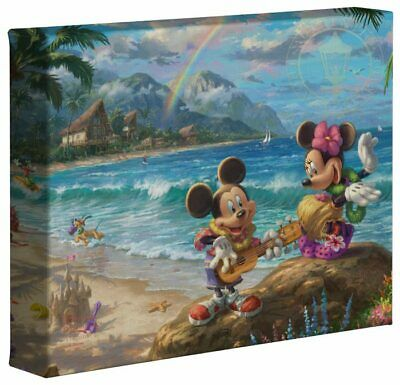 Thomas Kinkade Studios Mickey and Minnie in Hawaii 8 x 10 Canvas Wrap