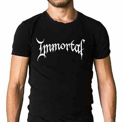 New Immortal Band Logo Rock Band Men's New Black T-Shirt Size S to 3XL