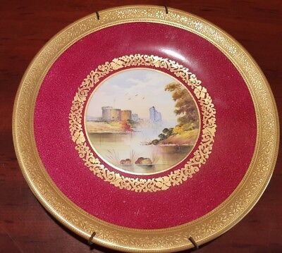 Vintage 'Chepstow' Handpainted by A.Holland Wedgewood Plate c1900s