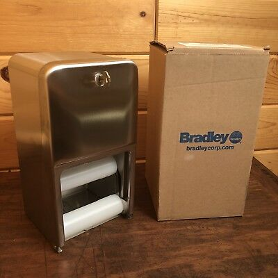 Bradley 5A10-11 Toilet Tissue Paper Dispenser Stainless Steel Dual Roll NEW NIB