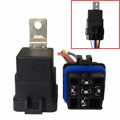 40/30 Amp Waterproof Relay Switch Harness Set 12V DC 5-Pin SPDT Automotive Car