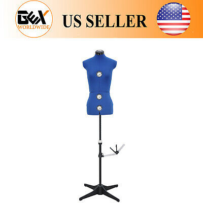GEX 13 Dials Adjustable Dress Form Sewing Female Mannequin Torso Stand Medium