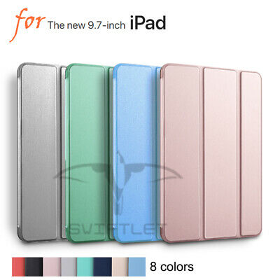 "iPad 9.7"" 6th Gen 2018   Shockproof smart Stand Cover Case Softer Rubber Back"