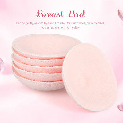 6x Reusable Nursing Breast Pads Washable Soft Absorbent Breastfeeding 12cm Pink