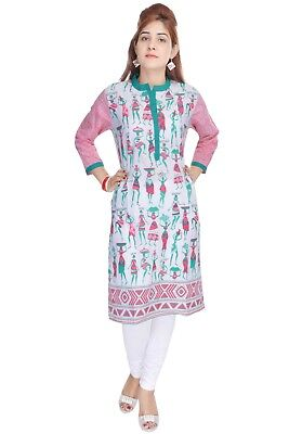 Bollywood Ethnic Designer Cotton Printed Indian Kurtis Kurtas For Women 2272