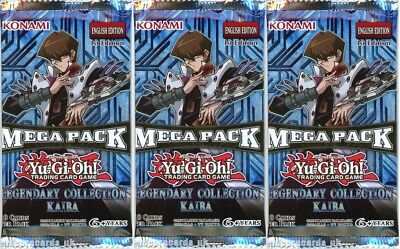 YuGiOh! Legendary Colection Kaiba 1st Edition New And Sealed Booster Packs x3