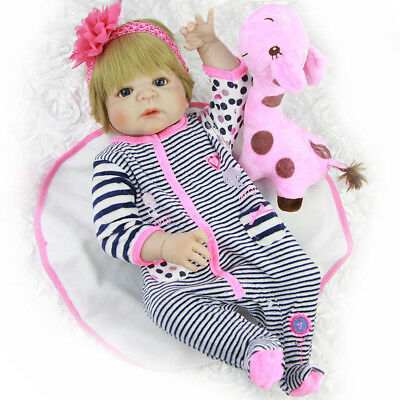 1e4645d2ae0 Prettyia Cute Rompers Headband Clothes for 22-23inch Reborn Baby Girl Doll