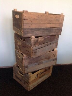 Job Lot of 8 Vintage Wooden Apple Crates. Shabby Chic