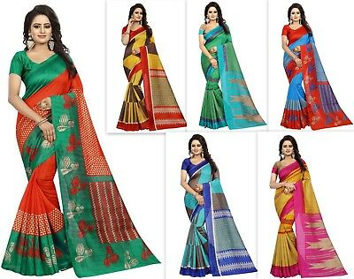 Designer bollywood pakistani indian cotton silk saree FANCY kanchipuram ethinic