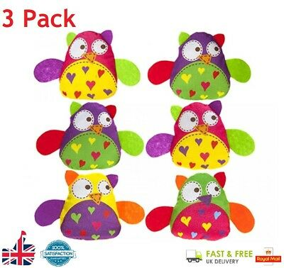 3 Pack Squishies Squishy Squeeze Owls Kids Toy Reliever Stress Gift Autism ADHD