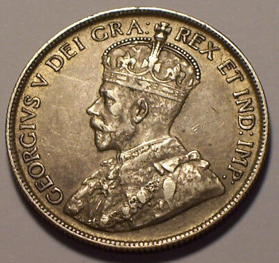 Canada, 1918 George V Fifty Cents, 50 Cents. 854,989 Mintage.
