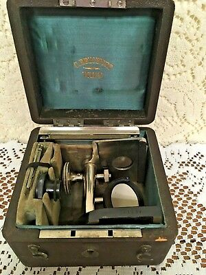 Antique 1860's HAMOMETER Microscope C. Reichert  Wien