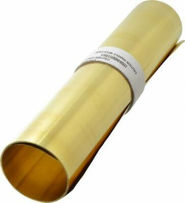 Made in USA 10 Ft. Long x 12 Inch Wide x 0.003 Inch Thick, Roll Shim Stock Brass