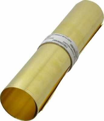 Made in USA 10 Ft. Long x 12 Inch Wide x 0.002 Inch Thick, Roll Shim Stock Brass