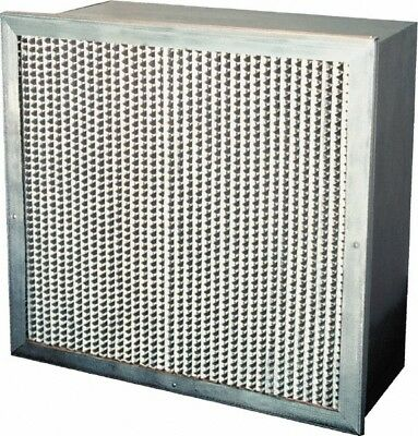 """Made in USA 24"""" Wide x 12"""" Deep Pleated Filter Fiberglass, 105 Sq. Ft., 0.65%..."""