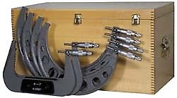 "Value Collection 6 to 12"" Range, 6 Piece Mechanical Outside Micrometer Set 0...."