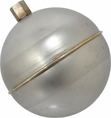 Made in USA 4 Inch Diameter, Spherical, Hex Spud Connection, Metal Float 1/4-...