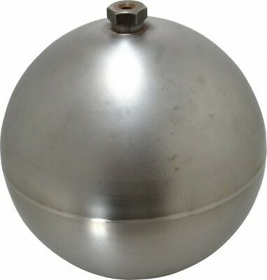 Made in USA 8 Inch Diameter, Spherical, Hex Spud Connection, Metal Float 3/8-...