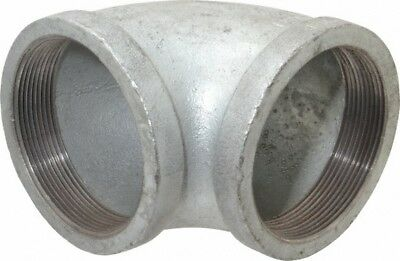 Made in USA Class 150, 4 Inch, Galvanized 90° Elbow Threaded, Malleable Iron