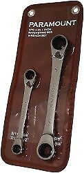 """Paramount 2 Piece, 5/16 to 3/4"""" Ratcheting Box Wrench Set Inch Measurement St..."""