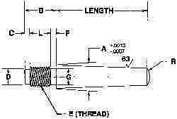"""Made in USA 8 Taper Pin, 0.49"""" Large End Diam, Passivated Finish, Stainless S..."""