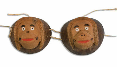 Coconut Monkey Costume Bra Adult Standard