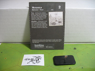 Axis /& Allies D-Day Minefield with card 43//45