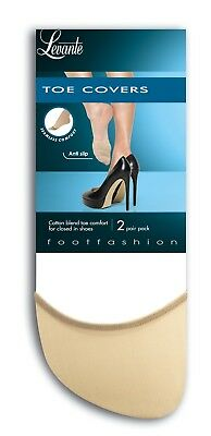 Levante Toe Covers, 2 Pair Pack, Footsies For Your Toes, Black, Nude