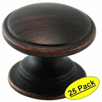 *25 Pack* Cosmas Cabinet Hardware Oil Rubbed Bronze Oval Knobs #6021ORB
