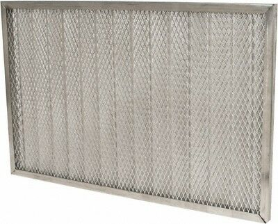 "Made in USA 16"" Wide x 1"" Deep Permanent Air Filter Aluminum Mesh"