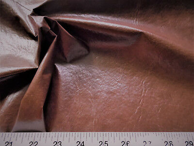 Discount Fabric Faux Leather Upholstery Pleather Vinyl Dark Brown PL17