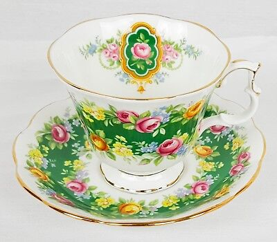 Royal Albert Garland Series Tea Cup and Saucer - Exquisite - Bone China England
